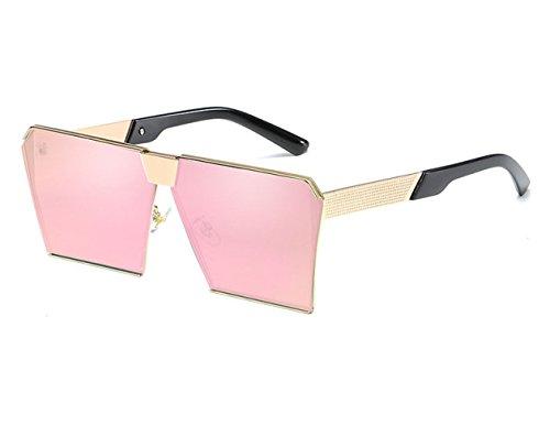 Retro Gafas Caja Sol C Moda Grande Gafas Metal Playa Viaje De De Espejo Sol Europa Conducción De S Tendencia qzwr5qXT