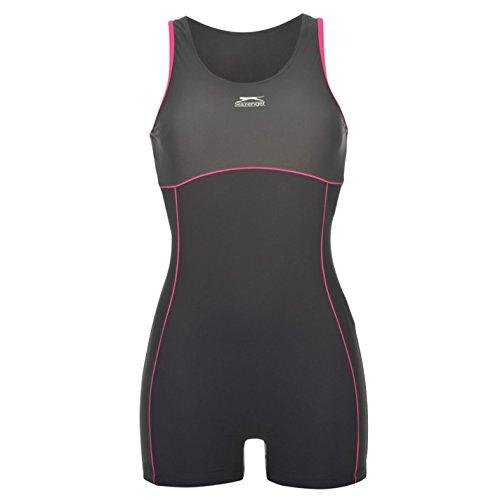 Slazenger Womens Boyleg Swimsuit - Navy / Charcoal - 14