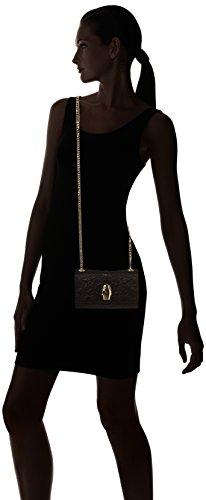 CAVALLI CLASS Damen Rsvp Lace 001 Schultertasche, Schwarz (Schwarz (Black)), 5,50 x 11,50 x 17,50 cm