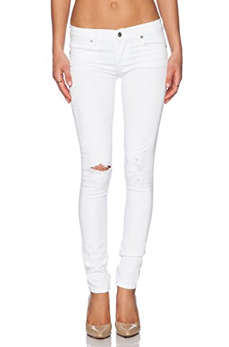 Citizens of Humanity Avedon Skinny Lowrise Jeans Distressed Santorini White 27