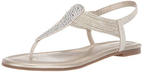 Bandolino Women's KAYTE Flat Sandal, Gold, 9.5 Medium US