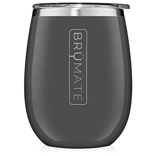 - BrüMate Uncork'd XL 14oz Wine Glass Tumbler With Splash-proof Lid - Made With Vacuum Insulated Stainless Steel (Charcoal)