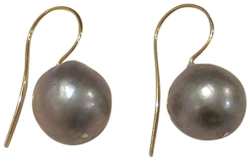 (Chan Luu Grey Cultured Baroque Pearl Drop Gold Plated Earrings)