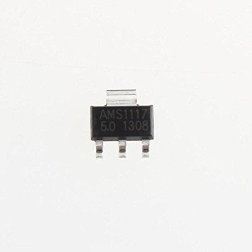UXOXAS Power Regulator Chip AMS1117-5V SOT223 Buck Linear Regulator IC (20Pcs)