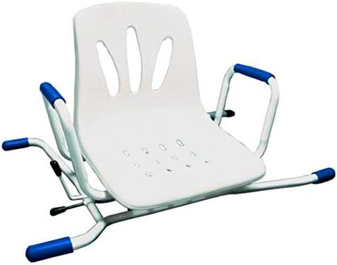 FabaCare Badewannensitz mit Rückenlehne, drehbar, Badesitz bis 100 kg