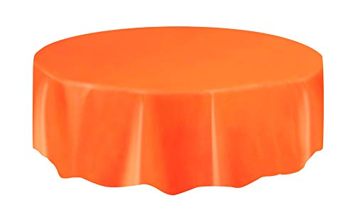Orange Plastic Table Cover -