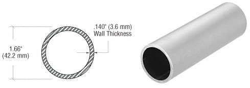 CRL Brushed Stainless 1-1/4'' Schedule 40 Pipe Rail Tubing-10 Ft by CR Laurence