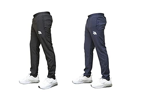 EVIGHT LIVING Men's Regular Fit Track Pants, Plain Track Pant for Men with Side Zip Pockets Stretchable, Lower for Sports, Outdoor, Athletic, Gym and Yoga, Trousers, Out Fit