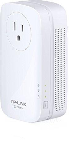 TP-Link AV2000 Powerline Adapter Kit, 2-Port, Gigabit w/ Power Outlet Pass-through, up to 2000Mbps (TL-PA9020P KIT)
