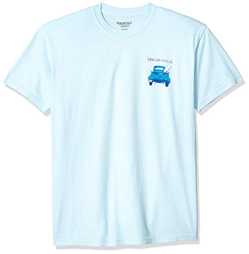 Margaritaville Men's Growing Older Graphic Short Sleeve T-Shirt, Chambray, Small ()