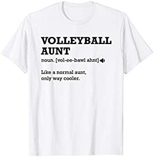 Volleyball Aunt  Definition, Gift Idea for Aunt T-shirt | Size S - 5XL