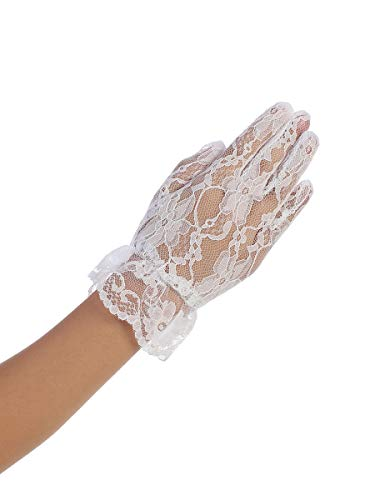 Girls First Communion Flower Girl Special Occasion Gloves LG-White -