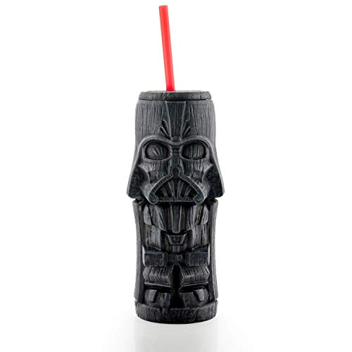 Geeki Tikis Star Wars Darth Vader Tumbler | Official Star Wars Collectible Plastic Tiki Style Cup | Holds 19 Ounces]()