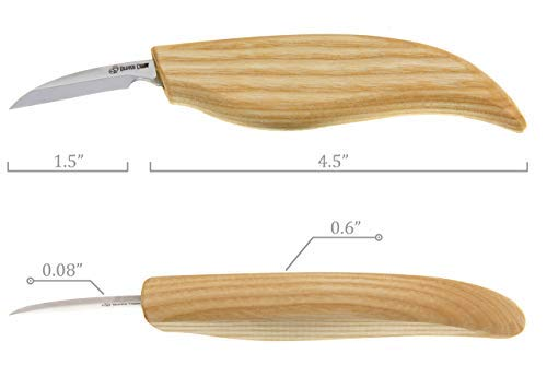 BeaverCraft, Wood chip carving detail knife for fine wood cutting and thin detailing The best knife for small whittling and fine cuts C7