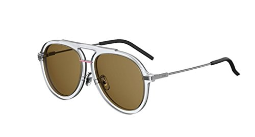 New Fendi FF M 0011/S 0900/70 Crystal/Brown Lenses Sunglasses