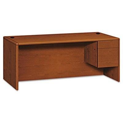 Hon - 10700 Series Single 3/4-Right Pedestal Desk 72W X 36D X 29-1/2H Henna Cherry ''Product Category: Office Furniture/Desks''