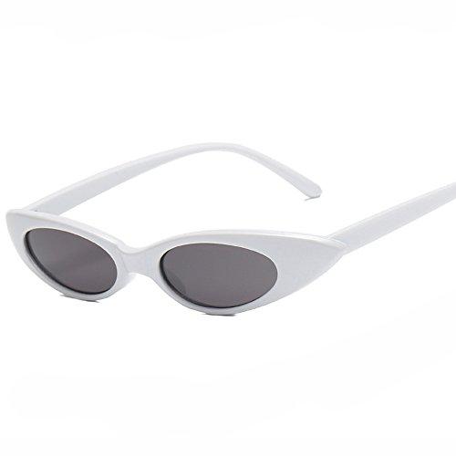 Gris femmes Nikauto lunettes cat soleil eyes de pour Blanc w8Saz14Snq