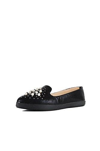 Hadari Womens Pearl Studded Slip OnLoafer Sneaker AQFh8