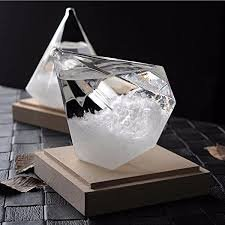 Flowing River Products New Storm Glass Crystal Diamond Shape Globe Ornament Weather Predicting Forecaster Ornament Home Decor Gift