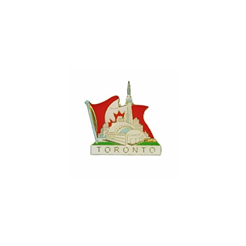 Lapel Pins Toronto - _. Toronto Skyline in Canada Country Flag Lapel Pin Badge