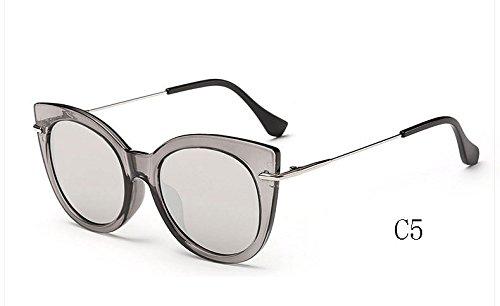 de mujeres gato ojo sol espejo 025 Gafas de C7 de 025 de TL Sunglasses Gafas UV400 sol de de C5 caramelo tonos gafas XwgqxWFYI