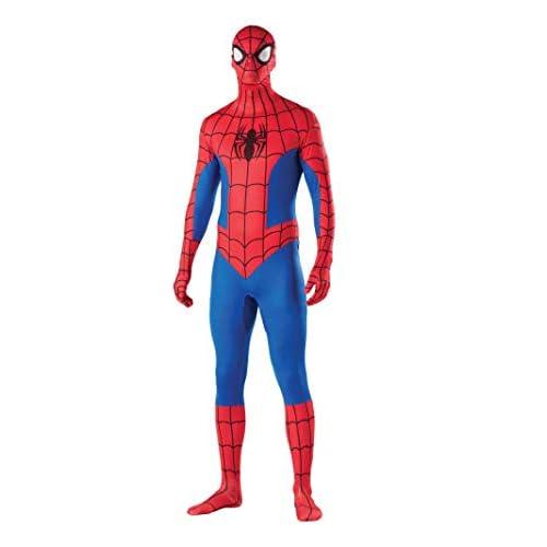 Adult Mens Marvel Comics Hero Spiderman 2nd Skin Full Body Jumpsuit
