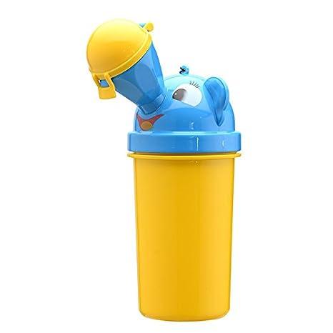 Doitsa Portá til Orinales Olla de orina Urinarios Bolsa de orinal higié nico para Camping Viaje Para Niñ os Cubo de orina sentado Asiento de inodoro Amarillo(Niñ os)