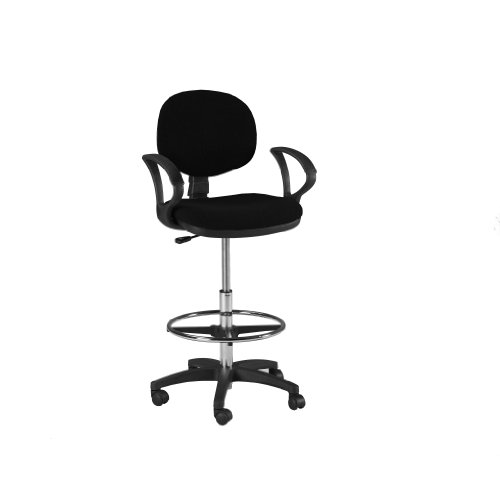 Martin Stanford Drafting Height Seating in Black by Martin