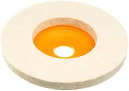 5 x 10,2 cm Woll-Polierpad Winkelschleifer Filz Polierscheiben Pad Set für Schleifmittel Rotary Tool Zubehör