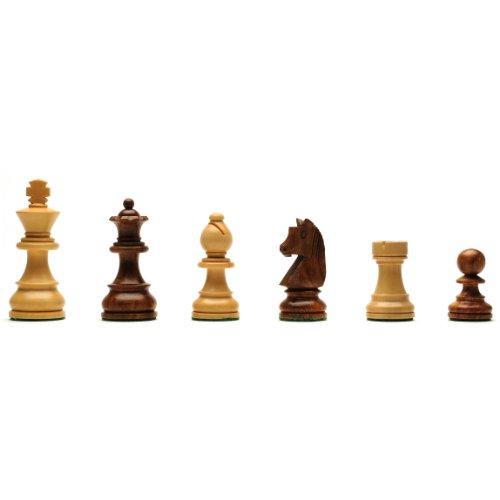 WE Games Classic Staunton Chessmen - Weighted & Handpolished Wood with 3 in. King by Wood Expressions