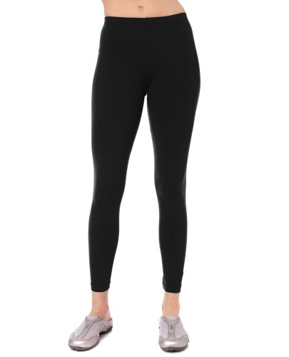- Danskin Women's Classic Supplex Body Fit Ankle Legging, Black, Small