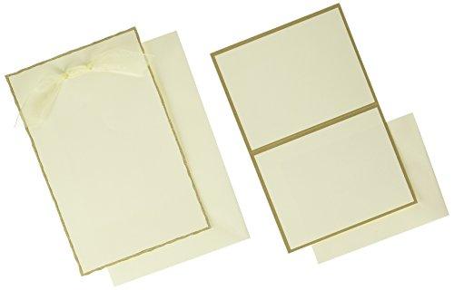 - Gold Foil Deckled Edge Print at Home Invitation Kit