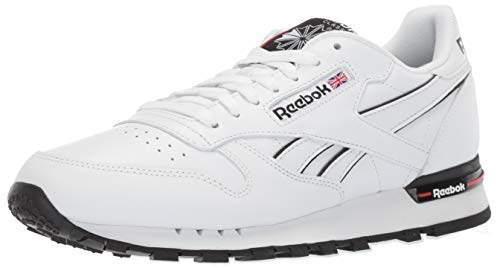 - Reebok Men's Classic Leather Sneaker, White/Primal red/Black, 9 M US