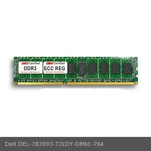 DMS Compatible/Replacement for Dell TJ1DY PowerEdge R610 8GB DMS Certified Memory DDR3-1333 (PC3-10600) 1024x72 CL9 1.5v 240 Pin ECC Registered DIMM - DMS