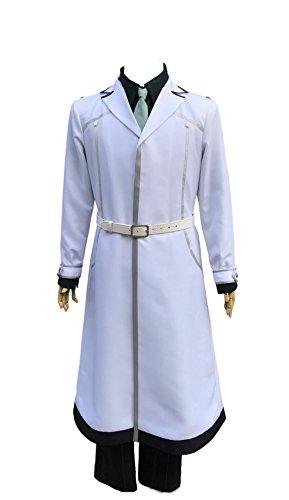 JapanAnimeCosplayExcellent Tokyo Ghoul Re Sasaki Haise White Fullset Cosplay Costume for Men (S(5.25-5.4), Sasaki Haise)