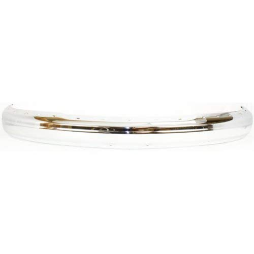 (Front Bumper Compatible with CHEVROLET EXPRESS/SAVANA VAN 1996-2002 Chrome with Pad Holes)