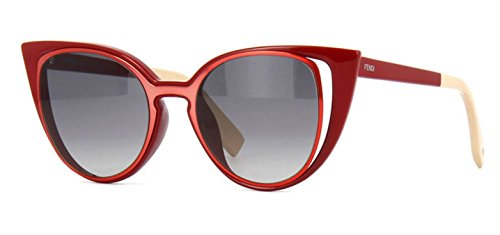 Fendi PARADEYES FF 0136/S NZ1/VK Red Orange/ Gray Gradient Sunglasses
