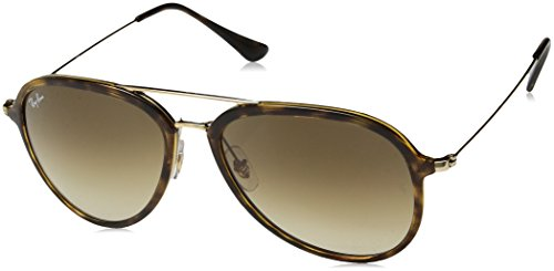 Ray-Ban RB4298 Aviator Sunglasses, Light Tortoise/Brown Gradient, 57 mm (Ray-ban Leopard)