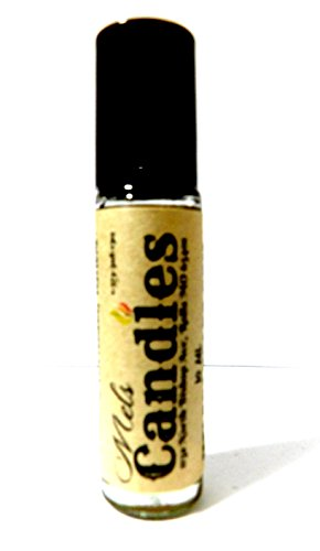 Spiced Pear Scent Oil - Mels Candles & More Spiced Pears 10 ml Glass Roll on Bottle with a Stainless Steel Ball, and black cap Pure undiluted & Alcohol Free Perfume Oil Fragrance oil, Vegan product