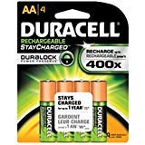 (Duracell AA NiMH rechargeable blister pack, 4 per pkg. 2500mAh )