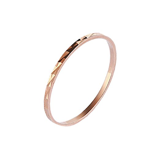 Paialco Rose Gold Plated Sterling Silver Skinny Midi Ring Band for Women 2MM, 4 ()