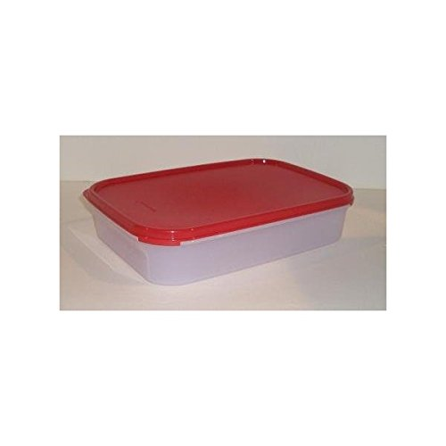 Amazon.com : Tupperware Modular Mates Rectangular Storage Container, Red  Seal (Rectangle #1, 8 1/2 Cups) : Food Savers : Everything Else