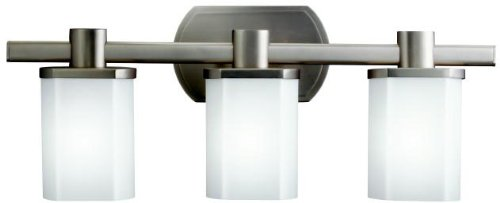 Kichler 5053NI Lege Bath 3-Light, Brushed Nickel
