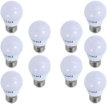 BombillasLed360 - Pack 10 x Bombilla Led Esférica G45 casquillo E27 de 6W - Luz Fría 6000/6500k - 540 Lm - Led SMD - CRI 80 en plástico, Color Blanco: Amazon.es: Iluminación