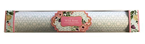 Lady Jayne Wild Rose Scented Drawer Liners, Blue Geometric Designs on White Background, 6 Sheets by Lady Jayne