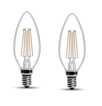 Wipro Garnet Base E14 4-Watt LED Bulb (Pack of 2, Yellow)