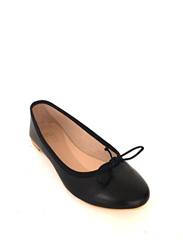 In Basso Pelle Vr532 Ballerine Shoes Tacco Mainapps Fiocco Zeta Nero fW41Wq