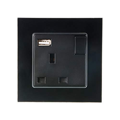 Bertong UK-Stecker Wandsteckdose USB-Anschluss AC 110 V-250 V 5 V DC Netzteil Ladegerät Steckdose Mit Schalttafel…