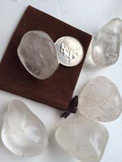 (Single Stone ~ Clear Quartz ~ One large stone ~ Ravenz Roost Stones with velour)