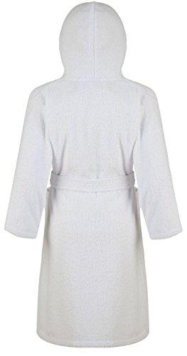 Enfants En Coton Home Pour Adore Col À Peignoir Châle Capuche Blanc Éponge 100 Tissu qwH4xY7H